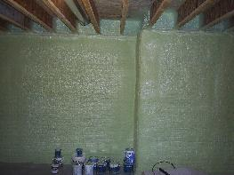 Great Performance Of Spray Foam Thermal Insulation On The Exterior Of Basement  Walls Images